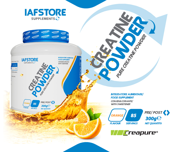 Iafstore Supplements - Creatine Powder Creapure® Quality - IAFSTORE.COM