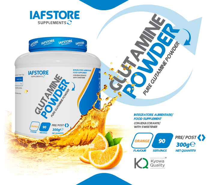 Iafstore Supplements - Glutamine Powder Kyowa® Quality - IAFSTORE.COM