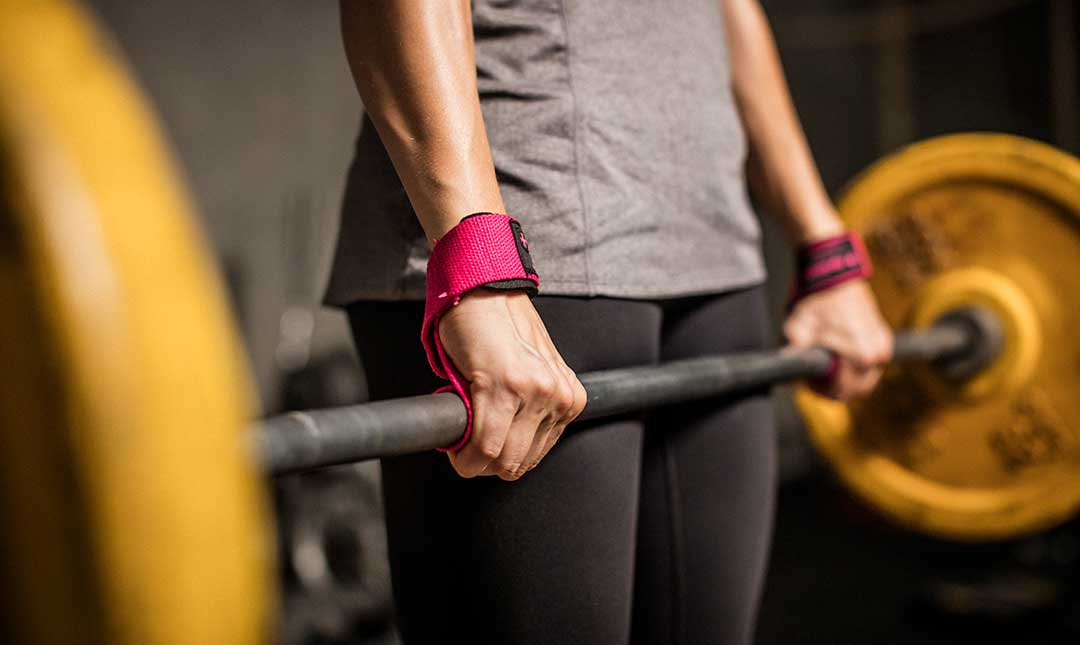 Women's Padded Cotton Lifting Straps by Harbinger, Colour: Pink ...